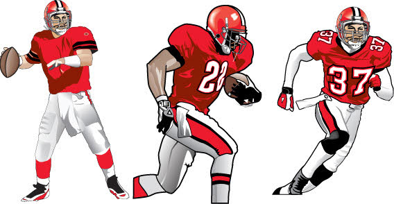 Images Of Football Player Clipart.