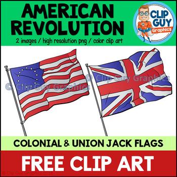 American Revolution Flags Clip Art FREEBIE {Clip Guy Graphics Clipart}.