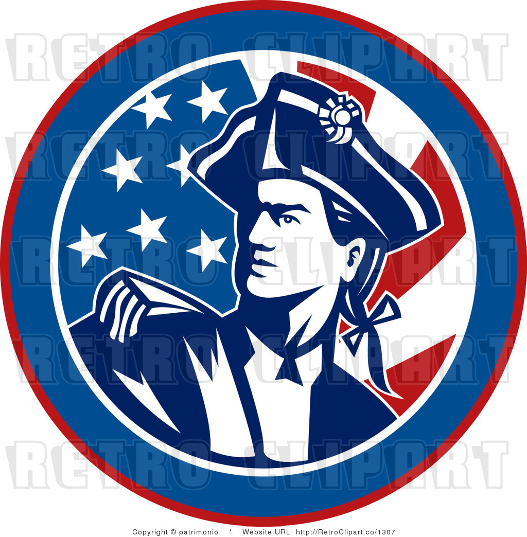American Revolutionary War Soldier Clipart.