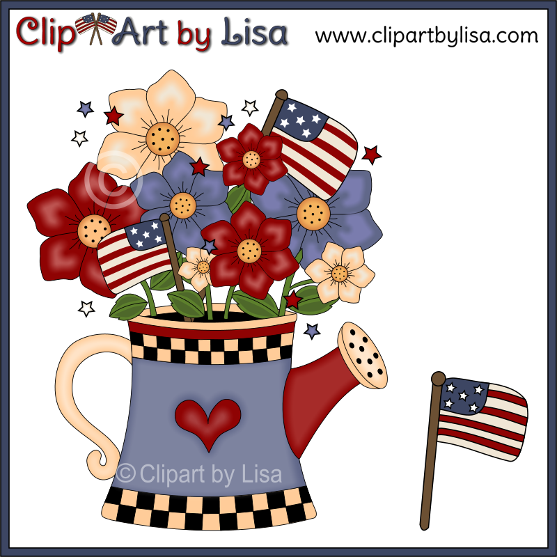 Flowers Americana Clipart.