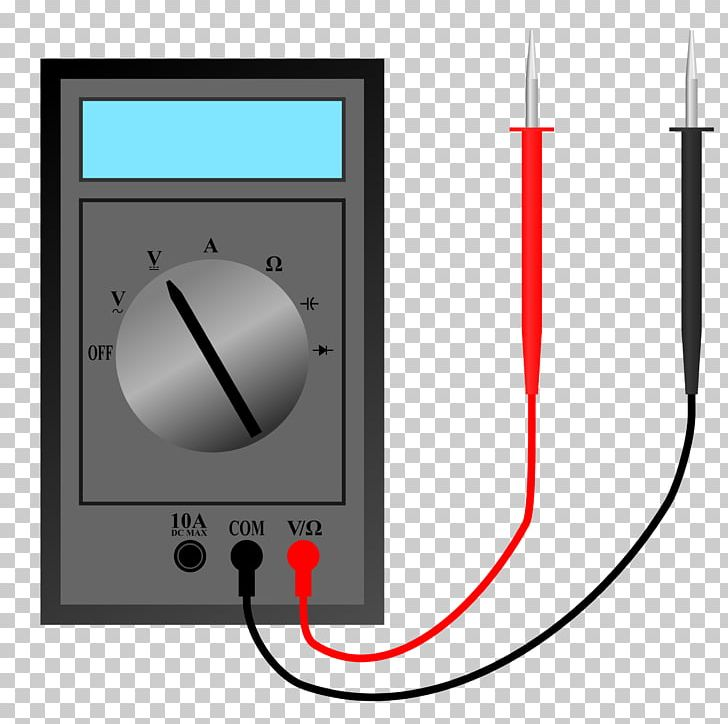 Electronics Digital Multimeter Ammeter PNG, Clipart, Ammeter.
