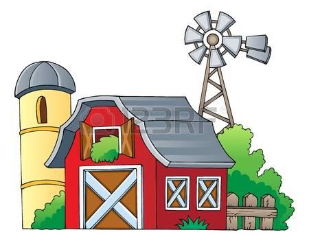 Farm 1 Clip Art, Farmhouse Free Clipart.