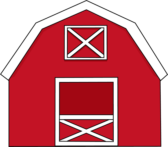 Red Farmhouse Clipart.