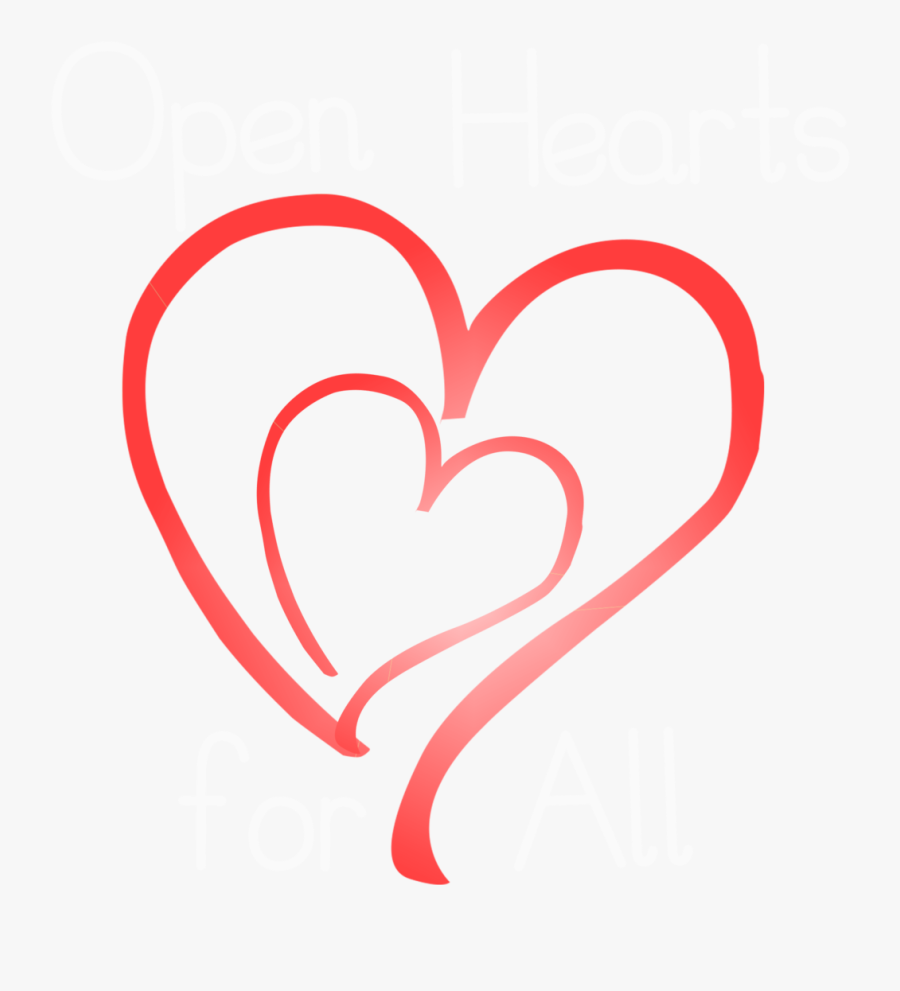 Transparent Open Heart Clipart.