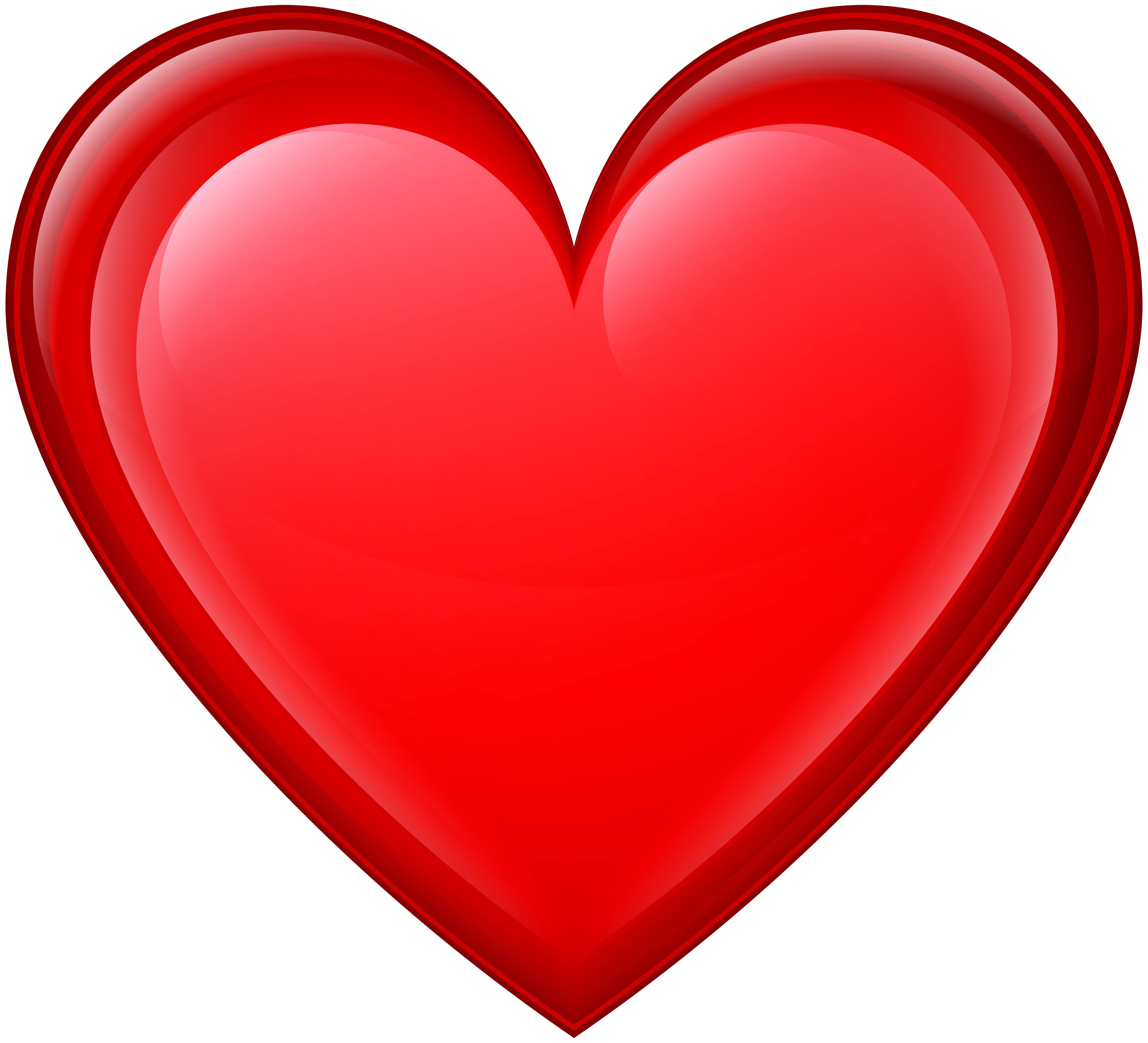 Heart Red PNG Transparent Clip Art Image.