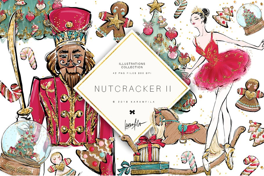 $5 SALE! Nutcracker Clipart ~ Illustrations ~ Creative Market.