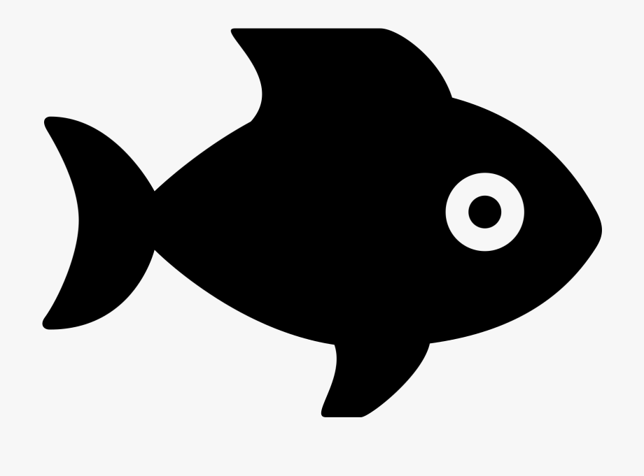 Fish Food Clipart Black And White.