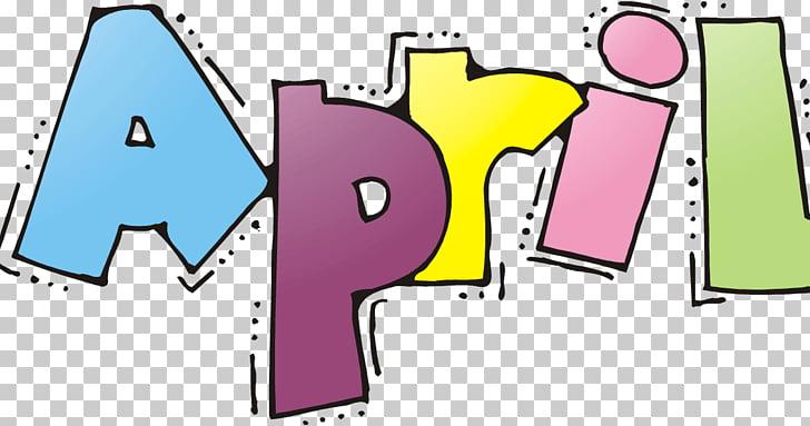 April shower , letters wordart PNG clipart.