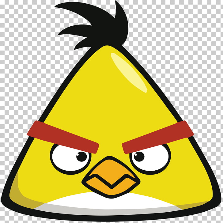 Angry Birds Yellow , Angry Birds PNG clipart.