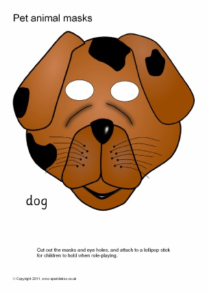Printable Pet Animal Masks for Kids.