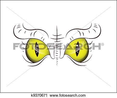 Clipart of Animal Eye k9370671.