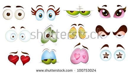 Cartoon Animal Eyes Stock Images, Royalty.