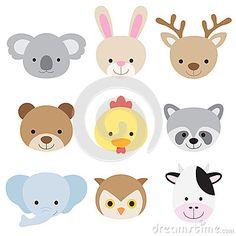 Animal Faces, Cartoon Dog Face, Clip Art, Animal Clipart, Animal.