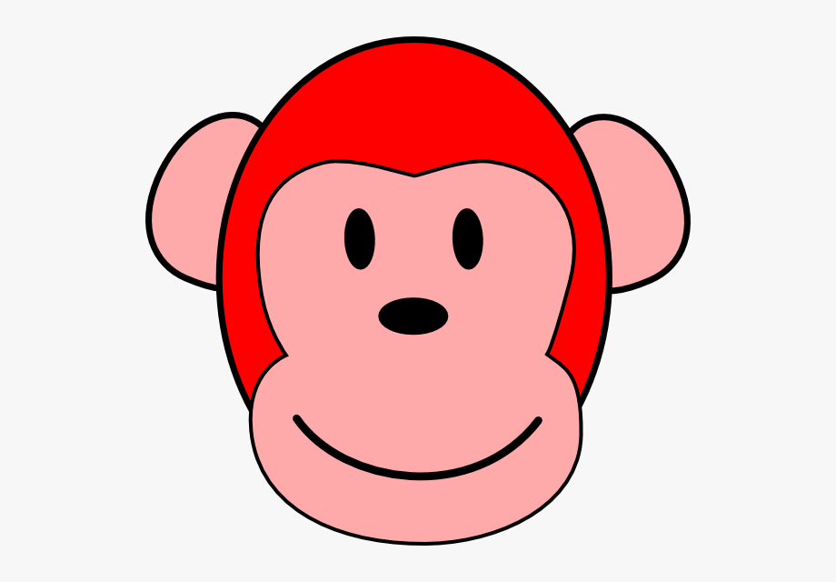Monkey Clipart Red.