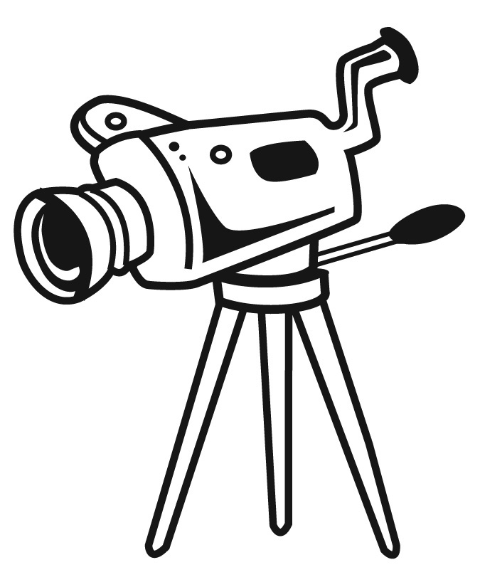 Animated video camera clipart.