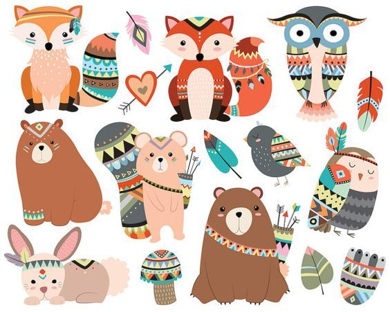 Tribal animaux Clipart.