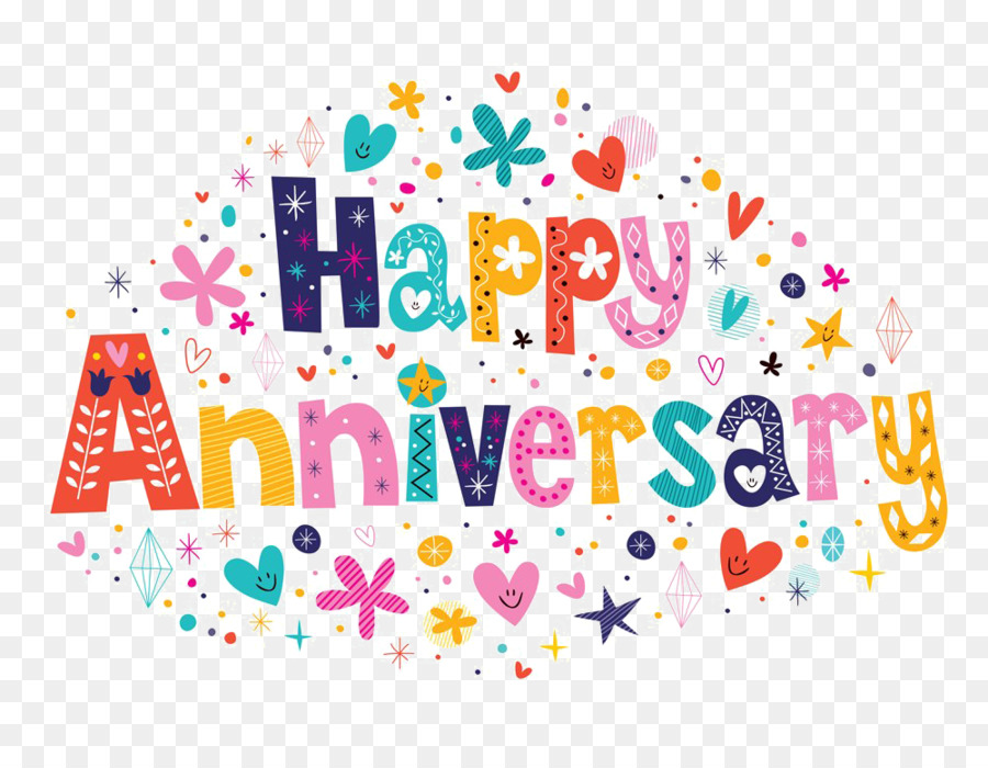 Wedding Anniversary Text clipart.