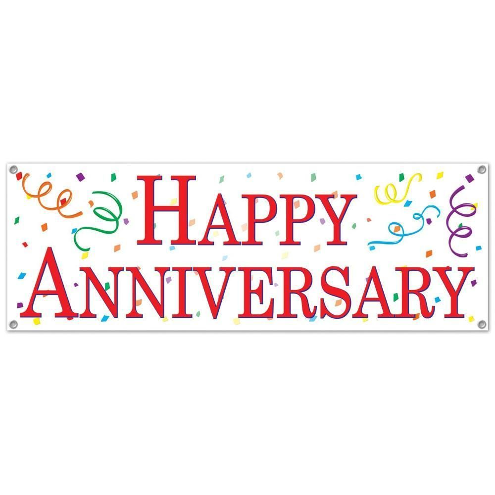 Happy Anniversary Sign Banner (Case of 12).