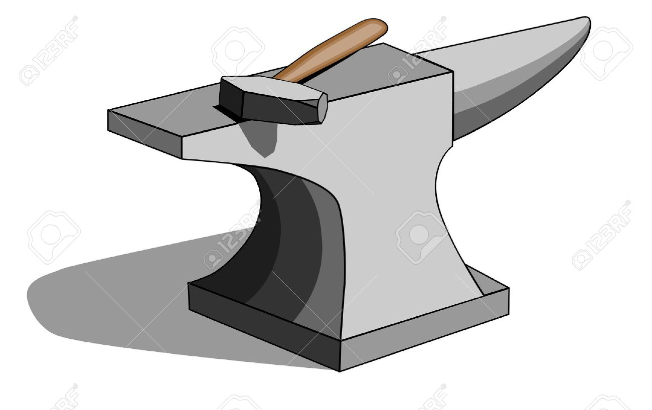 Anvil And Hammer Clipart.