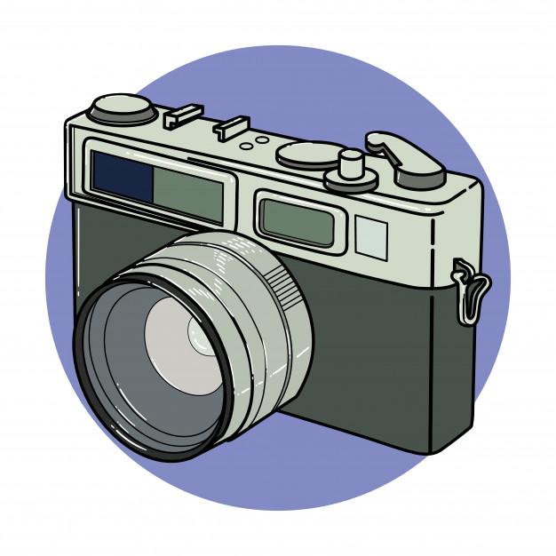 Vintage camera clip art Vector.