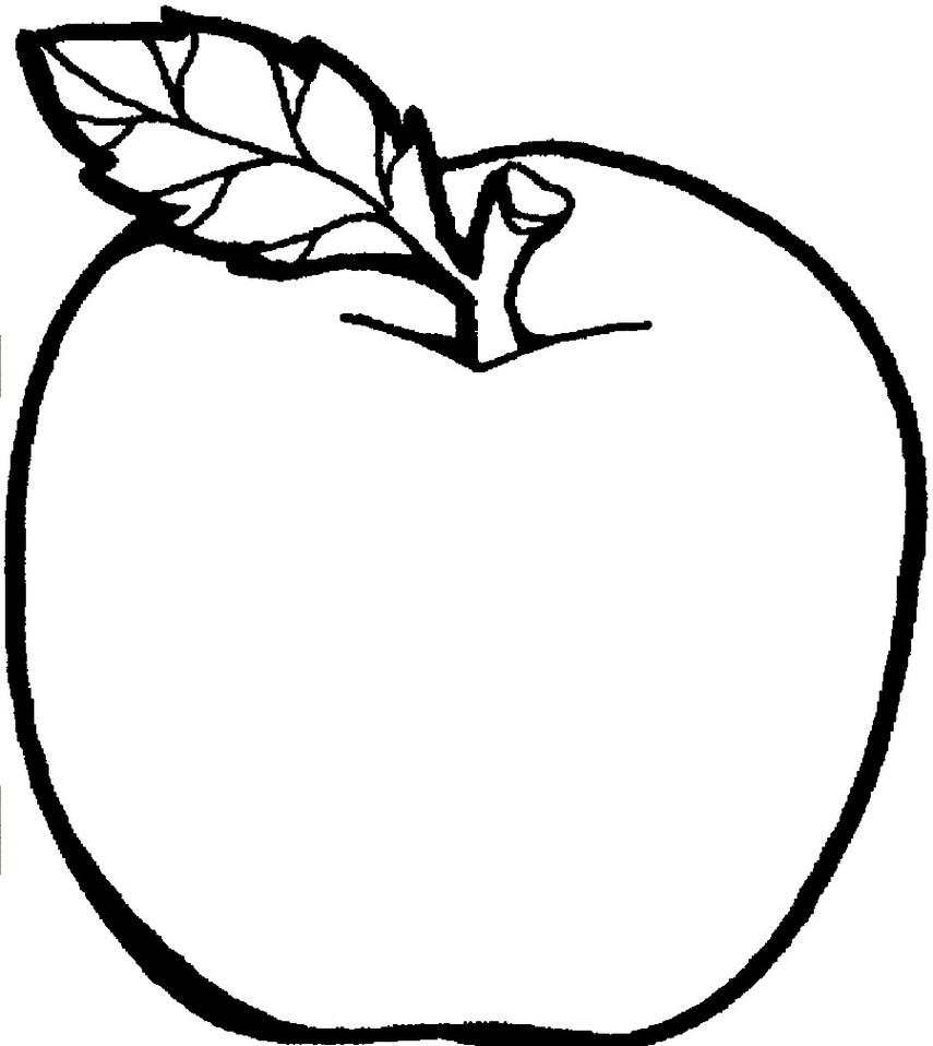 Apple black white apple clip art.