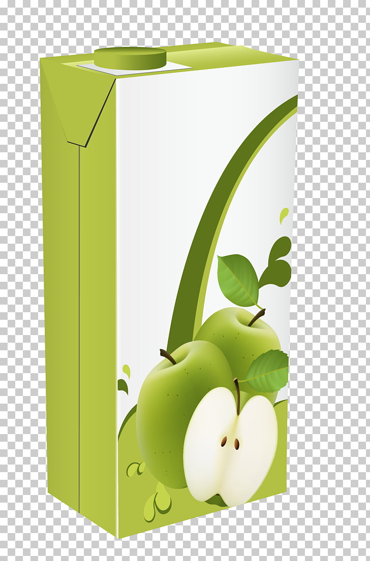 Orange juice Apple juice Juicebox , Apple beverage packaging PNG.