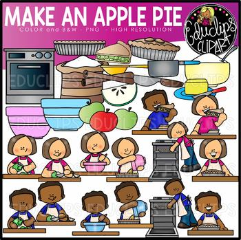 Make An Apple Pie Clip Art Set {Educlips Clipart}.