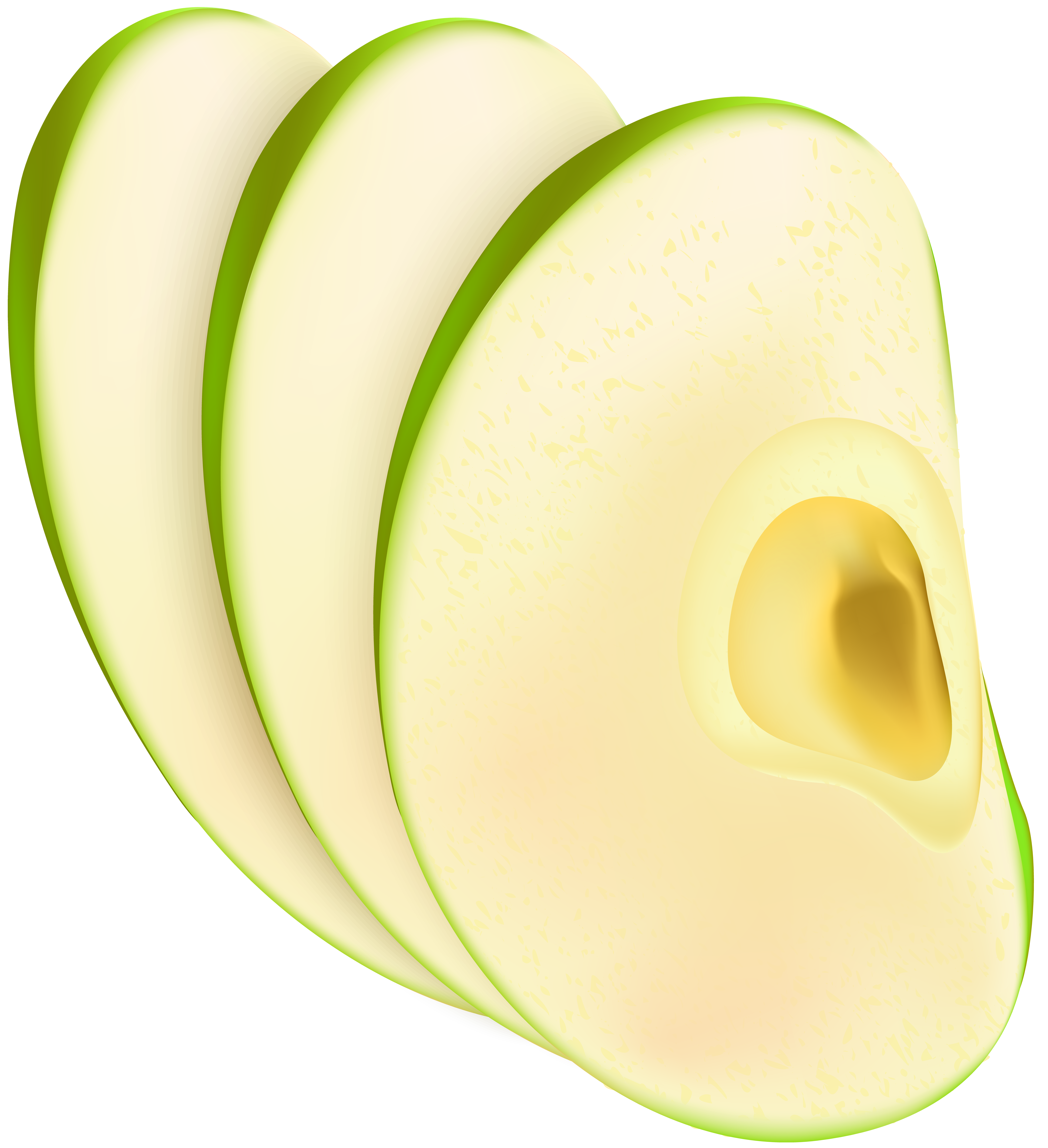 Apple Slices PNG Clip Art Image.