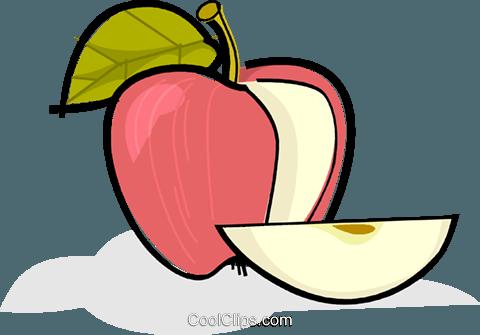 Sliced apple Royalty Free Vector Clip Art illustration.