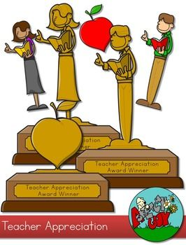 Teacher Appreciation Award Clip art.