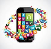 Mobile App Clip Art.