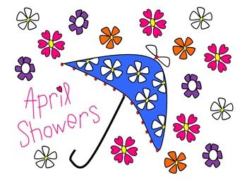 April Showers and Flowers Clip Art.