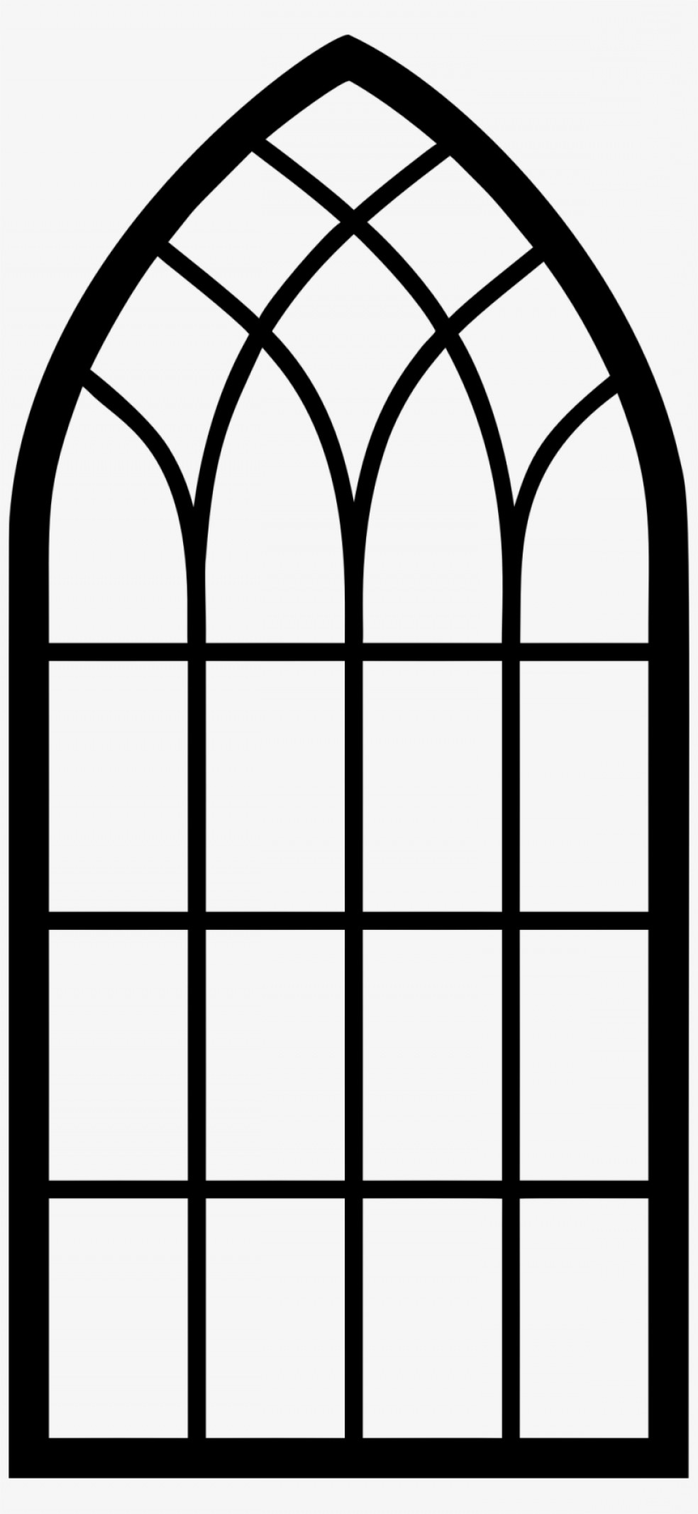 Uqattieqchurch Window Arch Window Clipart Silhouette.