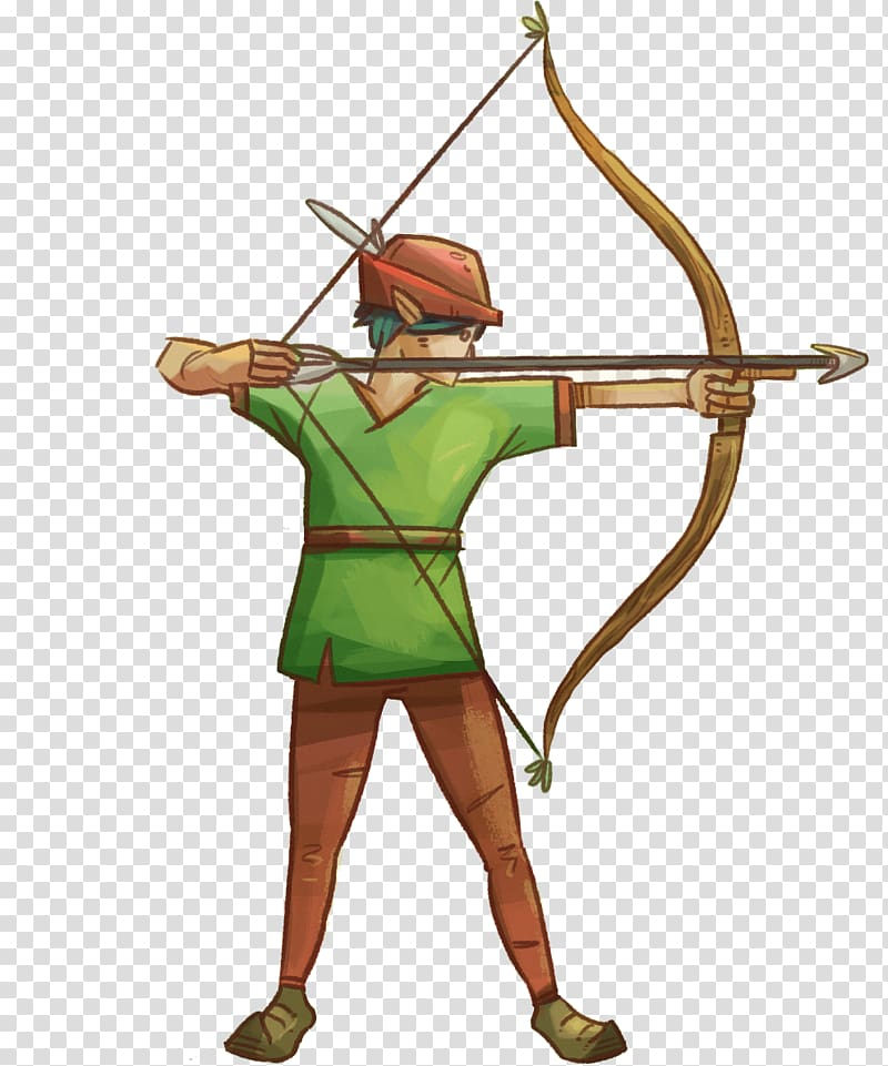 Bow and arrow Ranged weapon Archery Longbow, archer transparent.