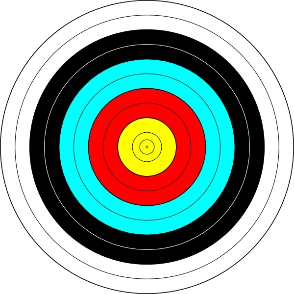 Archery Target clip art Free vector in Open office drawing.