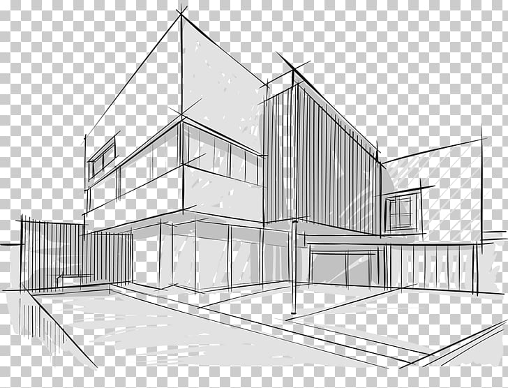 Architecture Drawing Building Sketch, building PNG clipart.