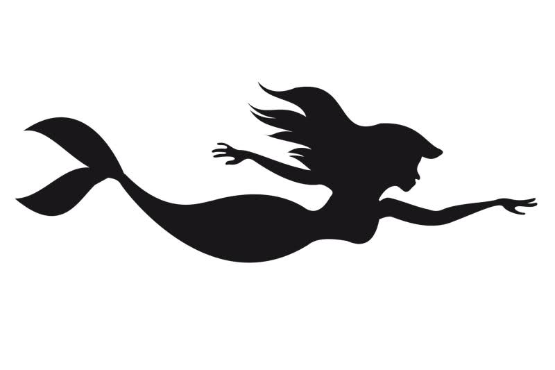 mermaid clipart silhouette on side #15