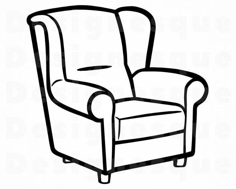 Furniture clipart arm chair, Furniture arm chair Transparent.