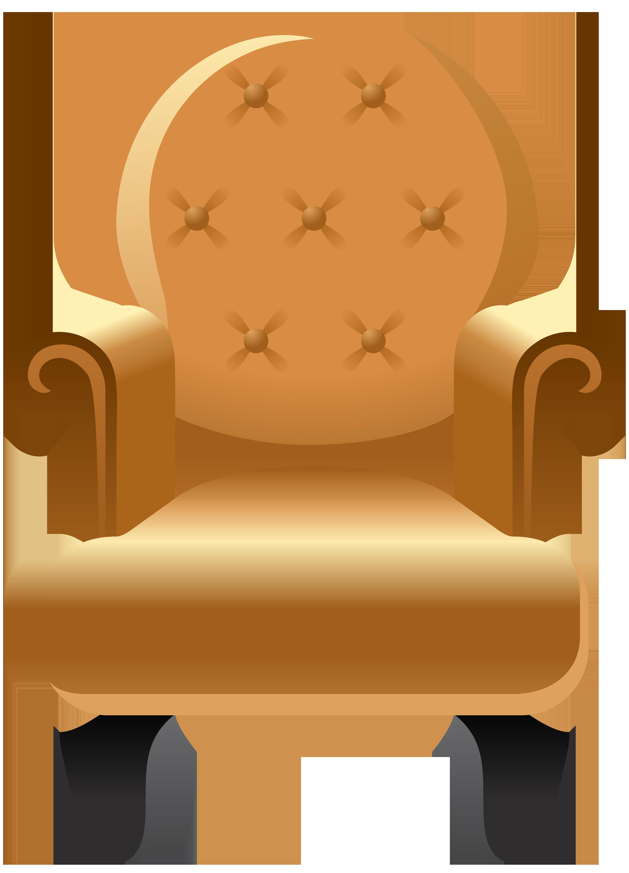 Armchair Transparent Clip Art Image.