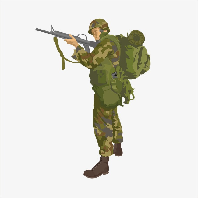 Army soldier clipart 4 » Clipart Station.