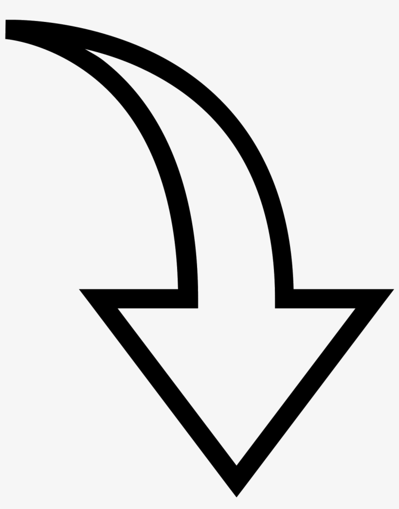 Vector Stock Clipart Arrow Pointing Down.