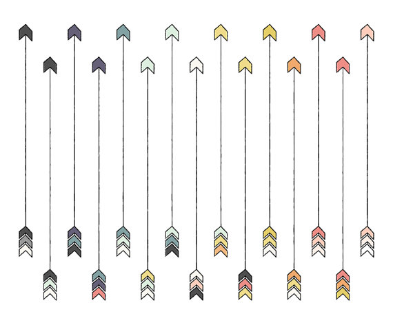 Arrow Clip Art // Tribal ClipArt // Instant Download Digital.