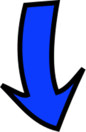 Small Arrow Down Finger Clipart.