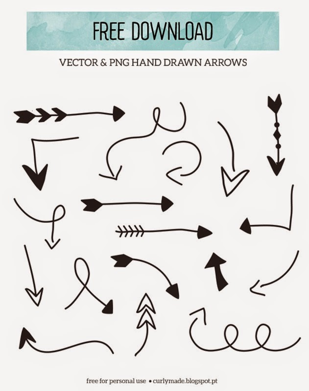 Free Printable: Hand drawn arrow elements to embellish your.