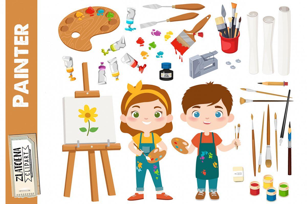 Painter Clipart Art Class Graphics Painting Clipart Art Clip.