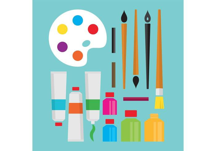Art Supplies Vectors.