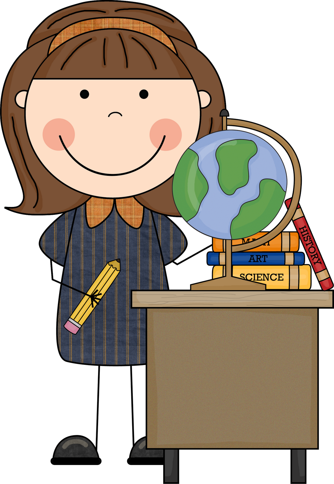 Free download First Grade Teacher Clipart for your creation.