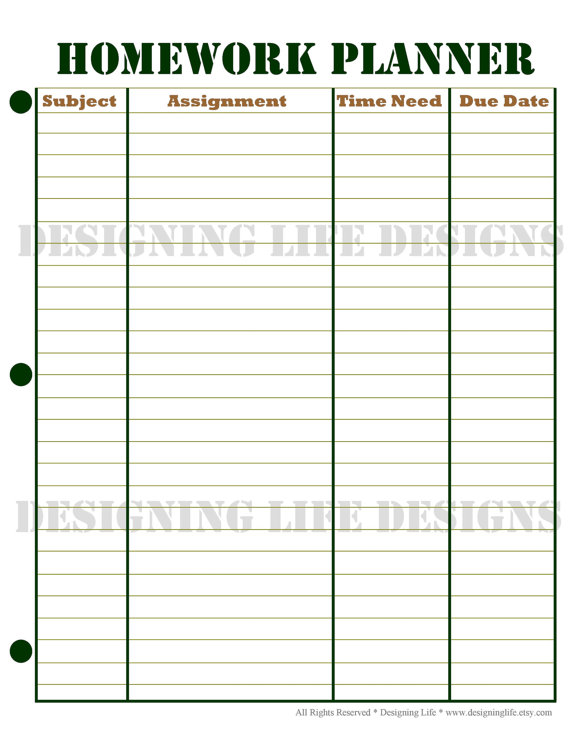 clipart assignment calendar