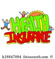 Assurance maladie Clipart libre de droits. 7 405 assurance maladie.