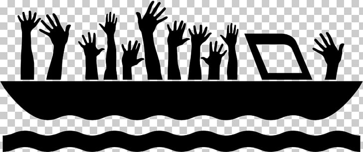 Refugee crisis Asylum seeker Ship Europe, SHIP silhouette.
